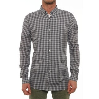 The Kooples HCC641 Long Sleeve Collared Button Down Men Regular Casual