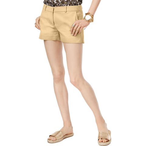 MICHAEL Michael Kors Womens Shorts Cotton Stretch Mini