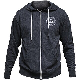 Gracie Jiu-Jitsu Academy Zip Up Hoodie - Charcoal Heather
