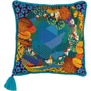 """Dreamland Cushion Counted Cross Stitch Kit-15.75""""X15.75"""" 10 Count"""