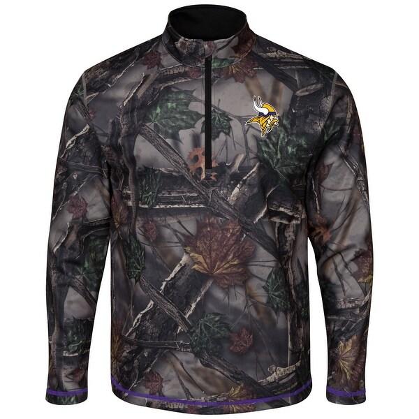 buy online 534cf fdd85 Minnesota Vikings Woods Men's Camouflage 1/2 Zip Sweatshirt
