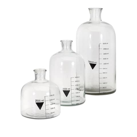 IMAX Home 47718-3 Glass Chemistry Bottles - Set of 3 - Clear
