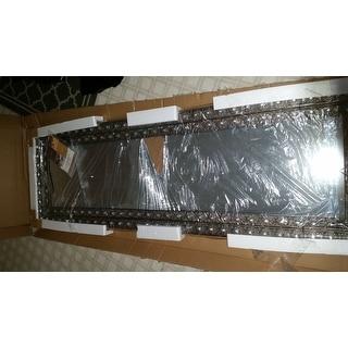 Abbyson Melania Floor Mirror - Silver