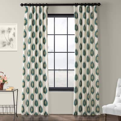 Exclusive Fabrics Mayan Printed Cotton Curtain Panel