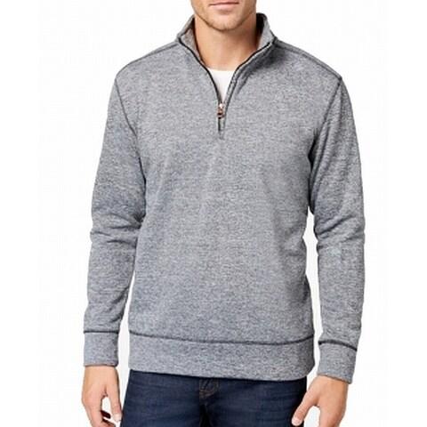 Weatherproof Heather Gray Mens Size 2XL 1/2 Zip Pullover Sweater