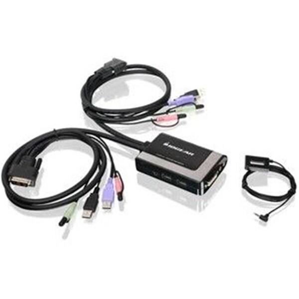 IOGEAR GCS932UB 2-Port USB DVI-D Cable KVM with Audio and Mic.