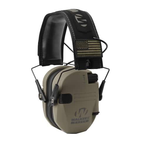Walkers Razor Slim Electronic Ear Protector (FDE Patriot Version)