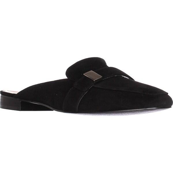 A35 Aidaa Open Heel Loafers, Black
