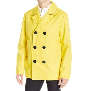 Nautica NEW Yellow Black Mens Size Large L Water-Resistant Peacoat