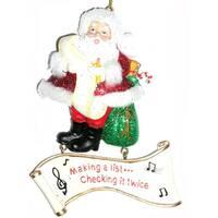 Making a List... Checking It Twice Santa Claus Christmas Ornament