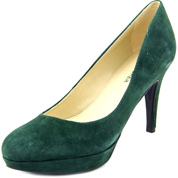 Marc Fisher Sydney 8 Women Round Toe Suede Green Heels