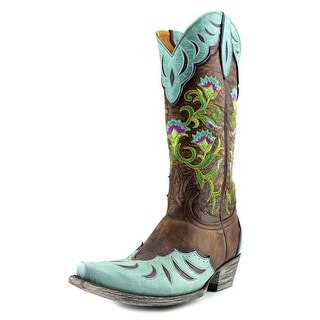 """Old Gringo Naomi Overlay 13"""" Square Toe Leather Western Boot"""