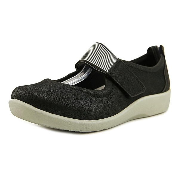 Clarks Cloudsteppers Sillian Cala Women W Round Toe Canvas Mary Janes