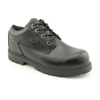 Lugz Savoy Men  Round Toe Leather Black Work Boot