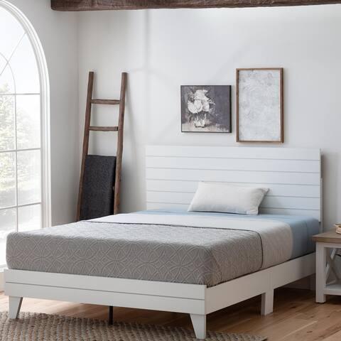 Brookside Sophia Shiplap Wood Panel Platform Bed Frame
