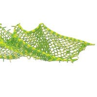 Club Pack of 12 Lime Green and Yellow Tissue Fish Netting Luau Hanging Party Decorations 5'