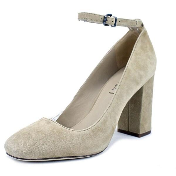 Via Spiga Selita Women Round Toe Suede Tan Heels