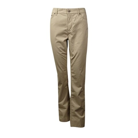 L-RL Lauren Active Women's 5-Pocket Cotton Blend Pants