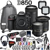 Nikon D850 DSLR Filmmaker Kit Bundle (Intl Model)