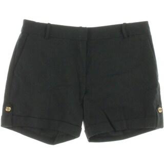 Michael Kors Womens Cuffed Stretch Dress Shorts
