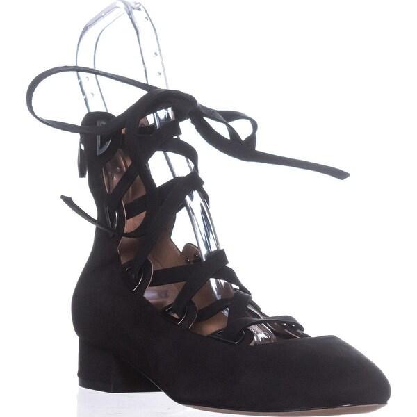 Sigerson Morrison Smhea Lace-Up Flats, Black Velvet