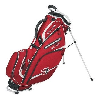 "Wilson Nexus III Golf Carry Leg Stand Bag 9.5"" Top Golfing Cart WGB5700RD (Red) - Red - One size"