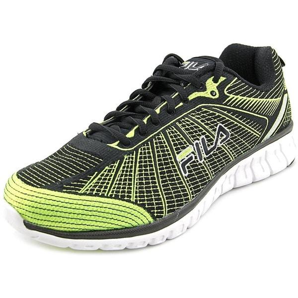 Fila SpeedWeave Run II Men Round Toe Canvas Green Running Shoe