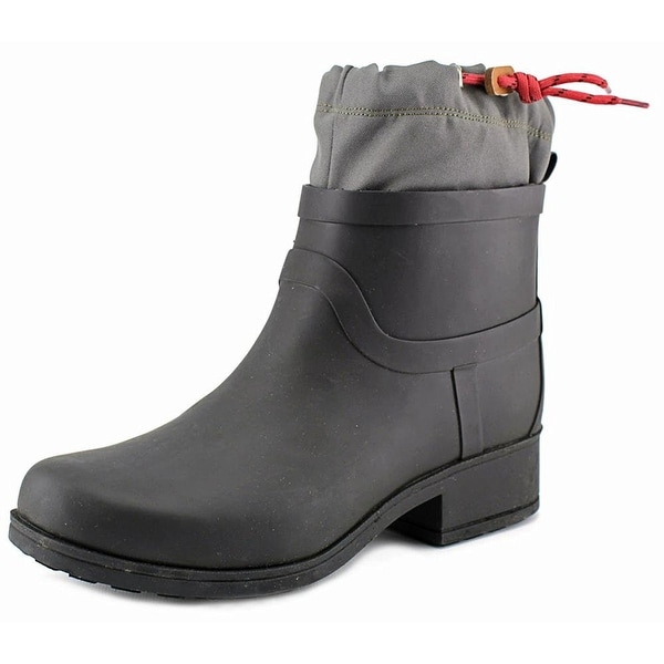Lucky Brand Womens REBEKA Rubber Closed Toe Ankle Rainboots