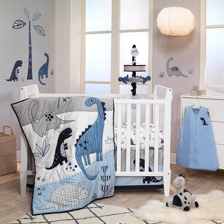 Shop Lambs Ivy Baby Dino Blue White Dinosaur Nursery 6 Piece