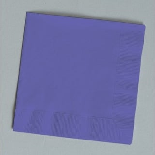 Touch of Color 150 Count Beverage Napkins Purple