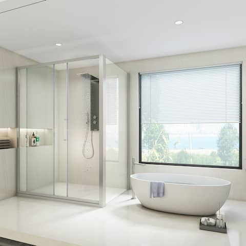 Art-Leon Modern Shower Enclosure with R/L Sliding Door