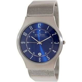 Skagen Men's Classic 233XLTTN Blue Titanium Quartz Dress Watch