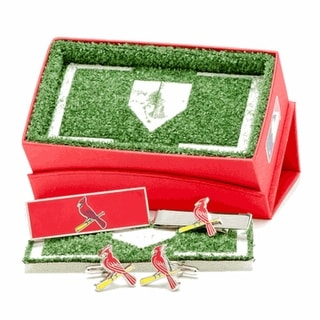 St. Louis Cardinals Cufflinks, Money Clip and Tie Bar Gift Set - Red