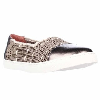 Taryn Rose Susanna Woven Slip On Fashion Sneakers - Champagne