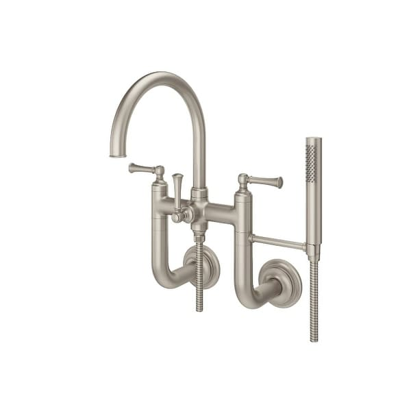 Pfister LG6 3TB Tisbury Wall Mounted Tub Filler With Hand Shower