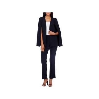 Tahari ASL Womens Pant Suit Cape-Blazer Office Wear