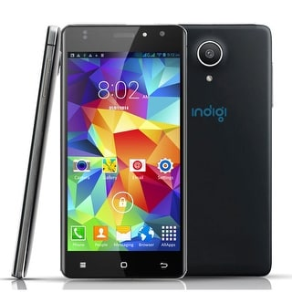 "Indigi Unlocked 5"" Android 6.0 DualSim 4G SmartPhone 4Core Unlocked AT&T T-Mobile - Black"