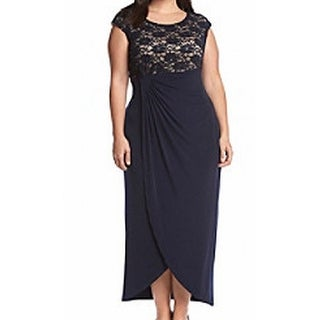 Connected Apparel NEW Blue Navy Womens Size 16W Plus Empire Waist Dress