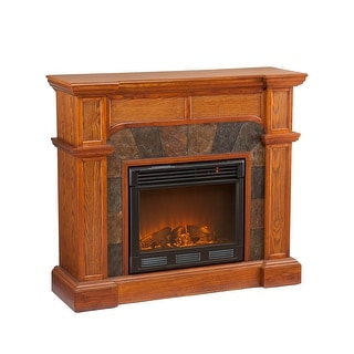 Southern Enterprises FE9285 Cartwright Convertible Electric Fireplace - Mission Oak - mission oak
