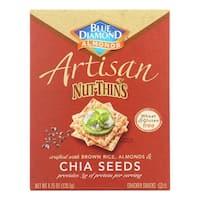 Blue Diamond Artesion Nut Thins - Chia Seed - Case of 12 - 4.25 oz.