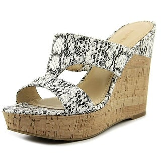 Ivanka Trump Hotty2 Women Open Toe Leather Wedge Sandal