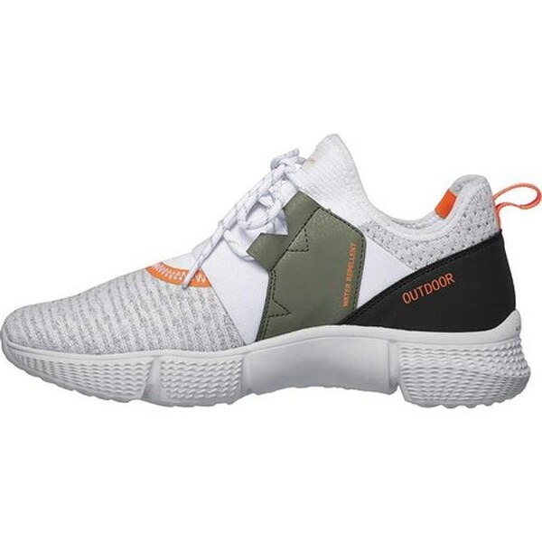 Shop Skechers Men's Zubazz Eriford Sneaker White Orange