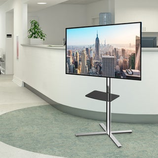 FLEXIMOUNTS C01 TV Cart LCD Stand for 32''-60'' LCD/LED Plasma Flat Panel Screen & up to 66 lbs