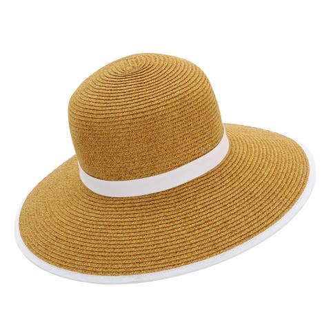 Sun N Sand Women's Sun Hat - Backless Woven Beach Hat, UPF 50+ Protect - One size