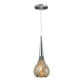 Woodbridge Lighting 13523STN-MIR 1 Light Mini Pendant with Mirror Mosaic Glass from the Torine Collection - Grey