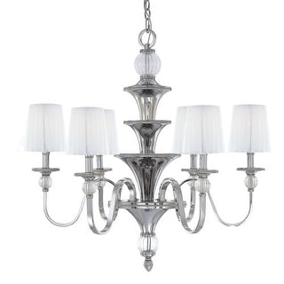 Metropolitan N6610 6 Light 1 Tier Candle Style Chandelier from the Aise Collection
