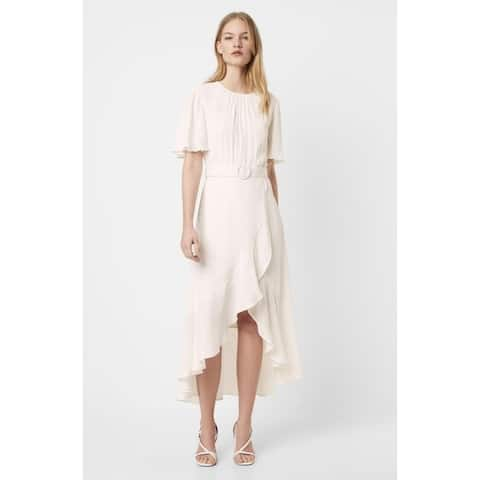 FRENCH CONNECTION White Short Sleeve Maxi Dress 12