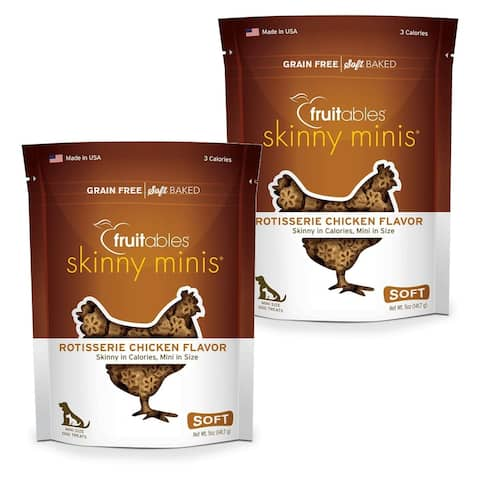 Fruitables Skinny Minis Rotisserie Chicken 5 oz Chewy Dog Treats 2 Pack