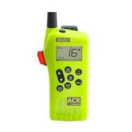 """ACR Electronics GMDSS Survival Radio Multi Channel GMDSS Waterproof Hand Held VHF SR203"""