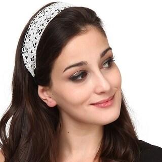 Mad Style White Lace Headband